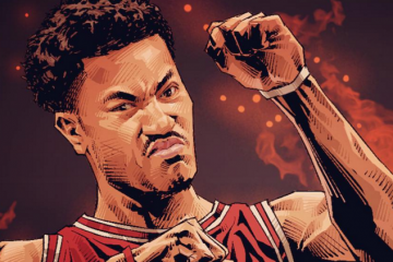 Derrick Rose On Fire Illustration