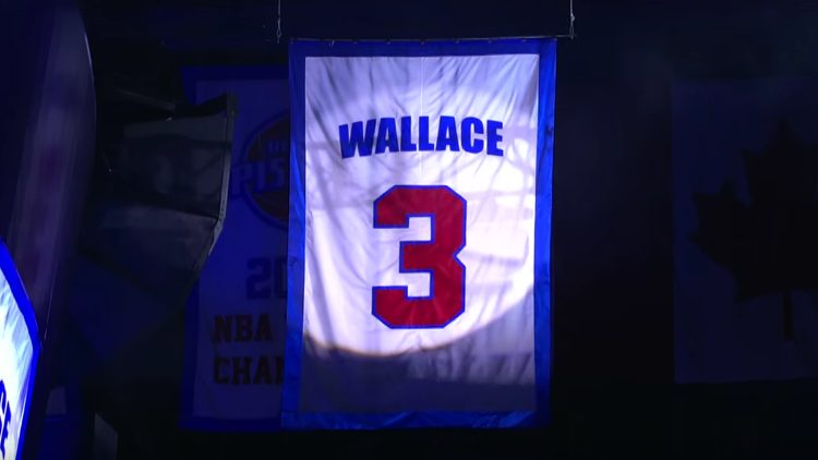 Detroit Pistons Retire the Jersey of Ben Wallace