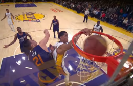 Jordan Clarkson Dunks All Over Alex Len