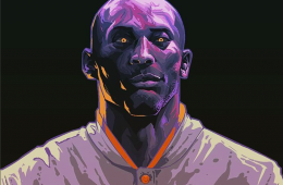Kobe Bryant Snake Man Legend Illustration