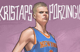Kristaps Porzingis New York Giant Illustration