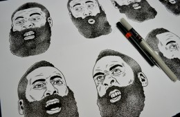 Multiple James Harden Expressions Sketched