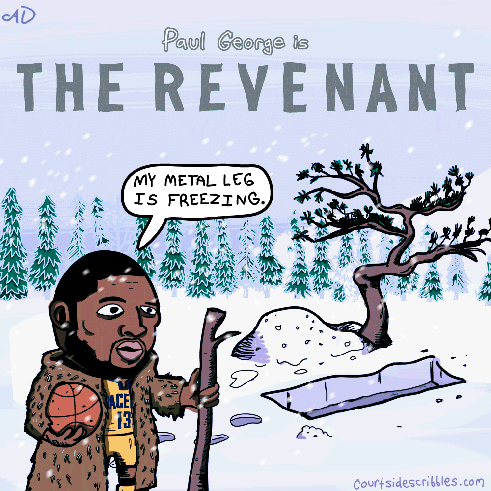 Paul George The Revenant Illustration