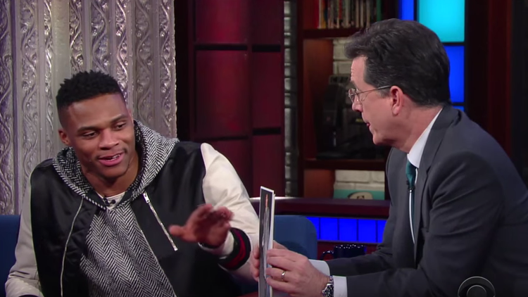 Russell Westbrook Does The Late Show with Stephen Colbert