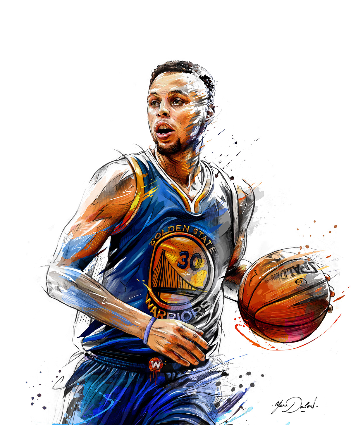 Stephen Curry Living Color Painting
