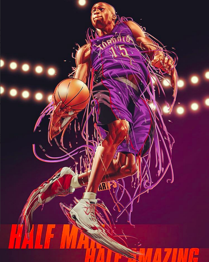 Vince Carter Half Man, Half Amazing Illustration