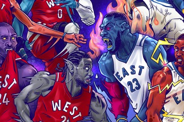 2016 NBA All-Stars x Space Jam MONSTARS Illustration