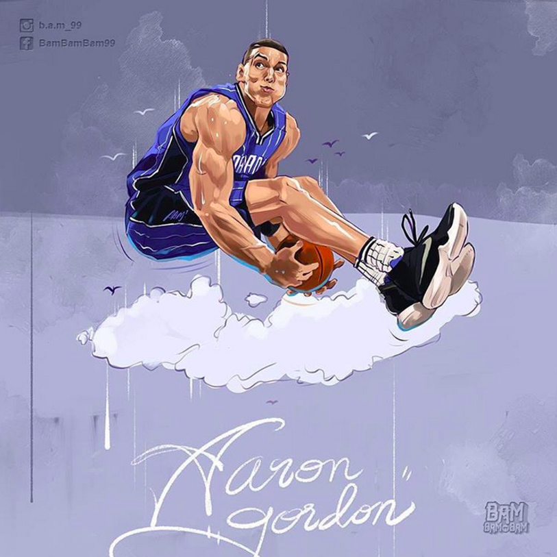 Aaron Gordon Above the Clouds Illustration
