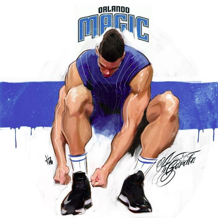 Aaron Gordon Pre-Flight Check Sketch