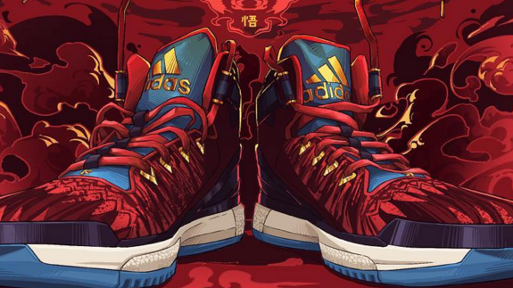online retailer 74fb1 c4e95 adidas D Rose 6 Year of the Monkey Illustration – Hooped Up