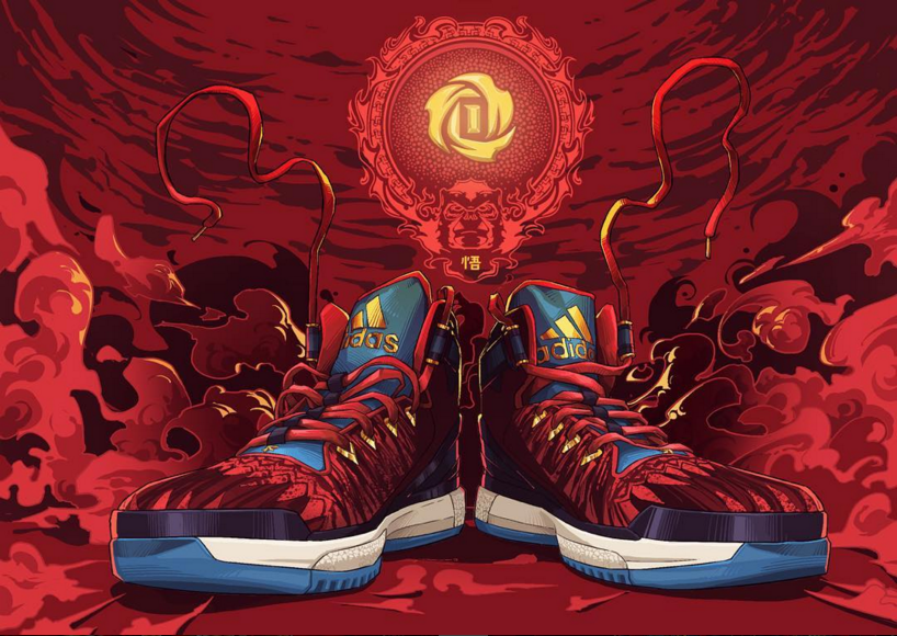 superior quality 6b5ce 0bc37 adidas D Rose 6 Year of the Monkey Illustration
