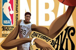 Anthony Davis Rivista Ufficiale NBA Cover Art