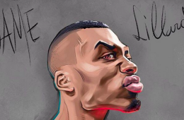 Damian Lillard 'There Will Be Blood' Illustration