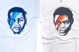 Kevin Durant and Russell Westbrook x David Bowie Tee
