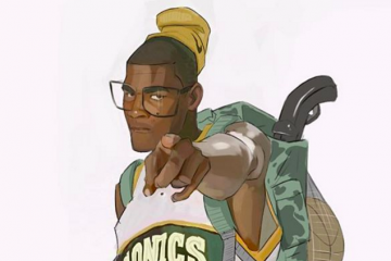 Kevin Durant SuperSonic Sniper Illustration