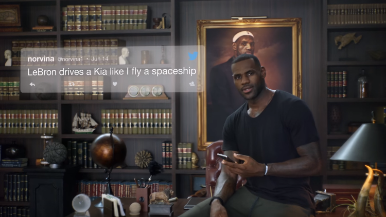 LeBron James Kia K900 Spaceship Commercial