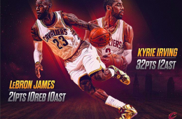 LeBron James, Kyrie Irving Dominate Kings