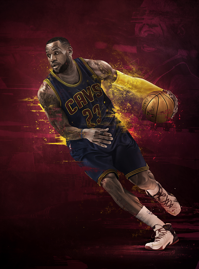d4675b219187 LeBron James vs Stephen Curry Illustration – Hooped Up