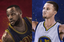 LeBron James vs Stephen Curry Illustration