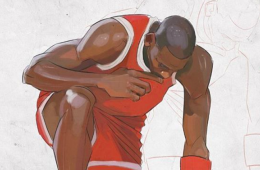 Michael Jordan Pre-Flight Check Sketch