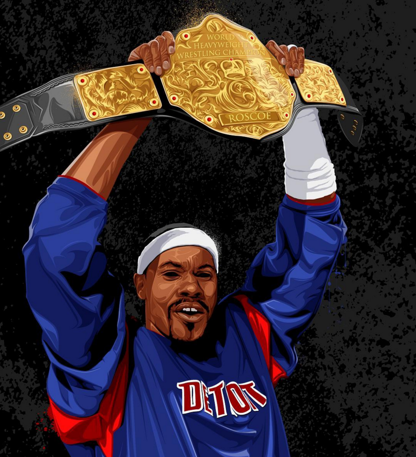 Rasheed Wallace aka The Champ Illustration