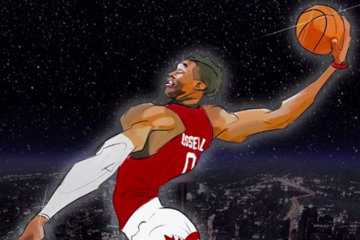 Russell Westbrook All-Star In Flight Illustration