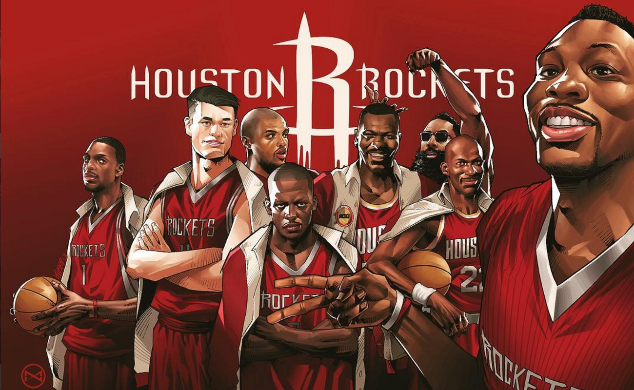 The Houston Rockets Avengers Illustration