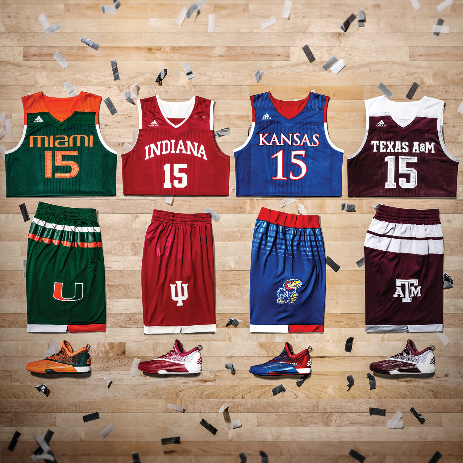 adidas School Pride Basketball Uniforms for 2016 March Madness
