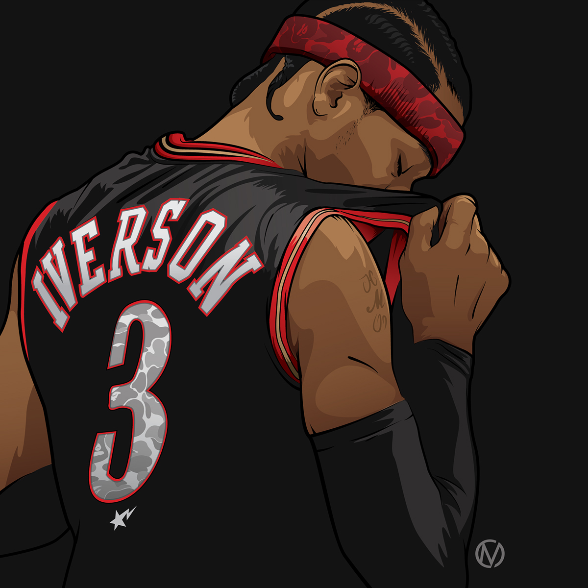 Allen Iverson x BAPE Illustration