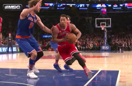 Derrick Rose Drops 30 In Loss, Gets First Dunk