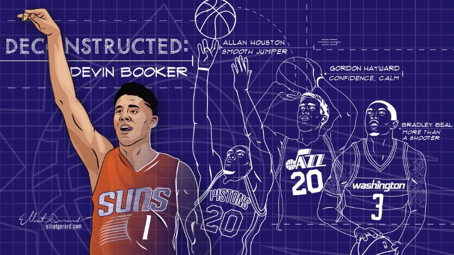 Devin Booker Deconstructed Illustration