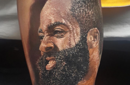 Fan Gets An Epically Real James Harden Tattoo