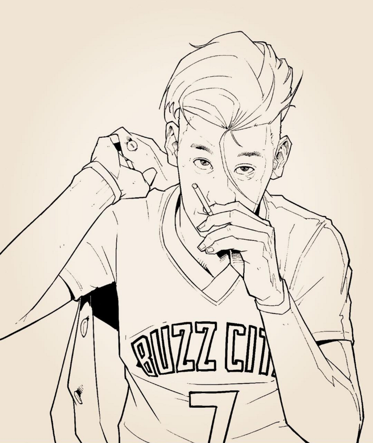 Jeremy Lin Rebel Sketch