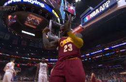 LeBron James Scores 27 In LA Blowout