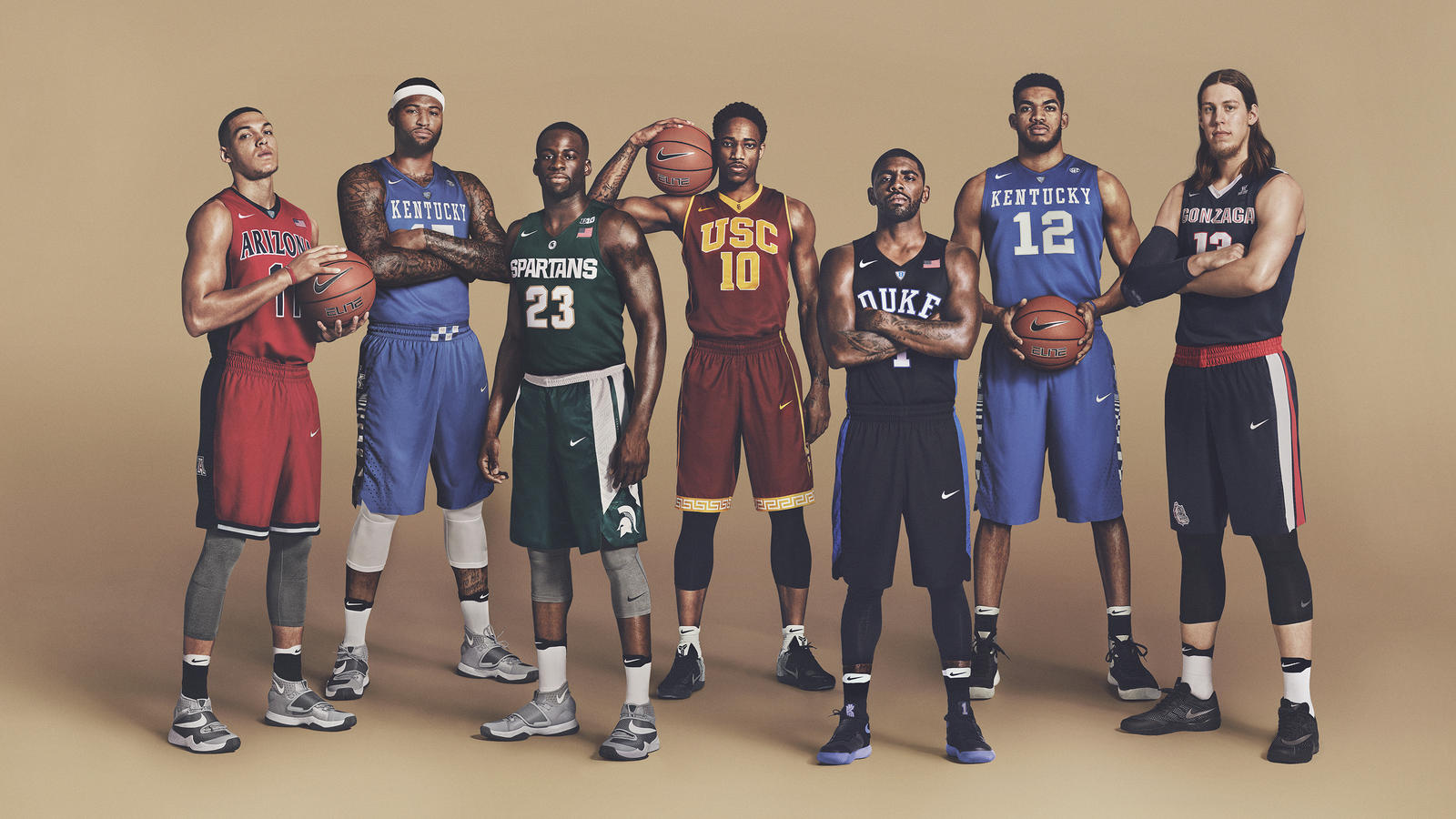 Nba Stars X March Madness In Nike College Uniforms Hooped Up