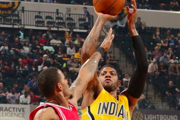 Paul George Battles James Harden, Indy Wins