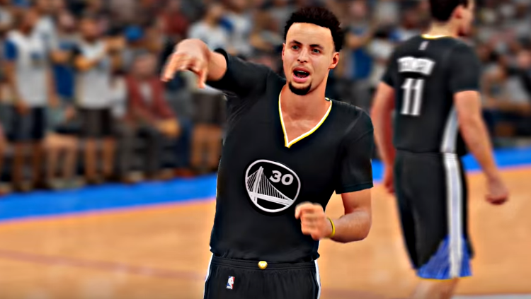 Stephen Curry Game Winning Shot vs OKC NBA 2K16 Style