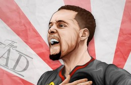 Stephen Curry Rising Sun Illustration