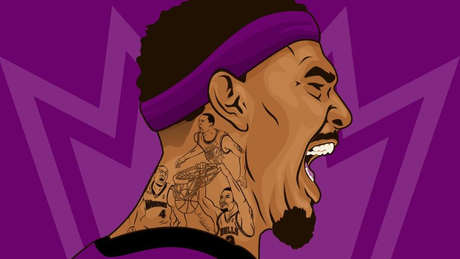 Willie Cauley-Stein Deconstructed Illustration