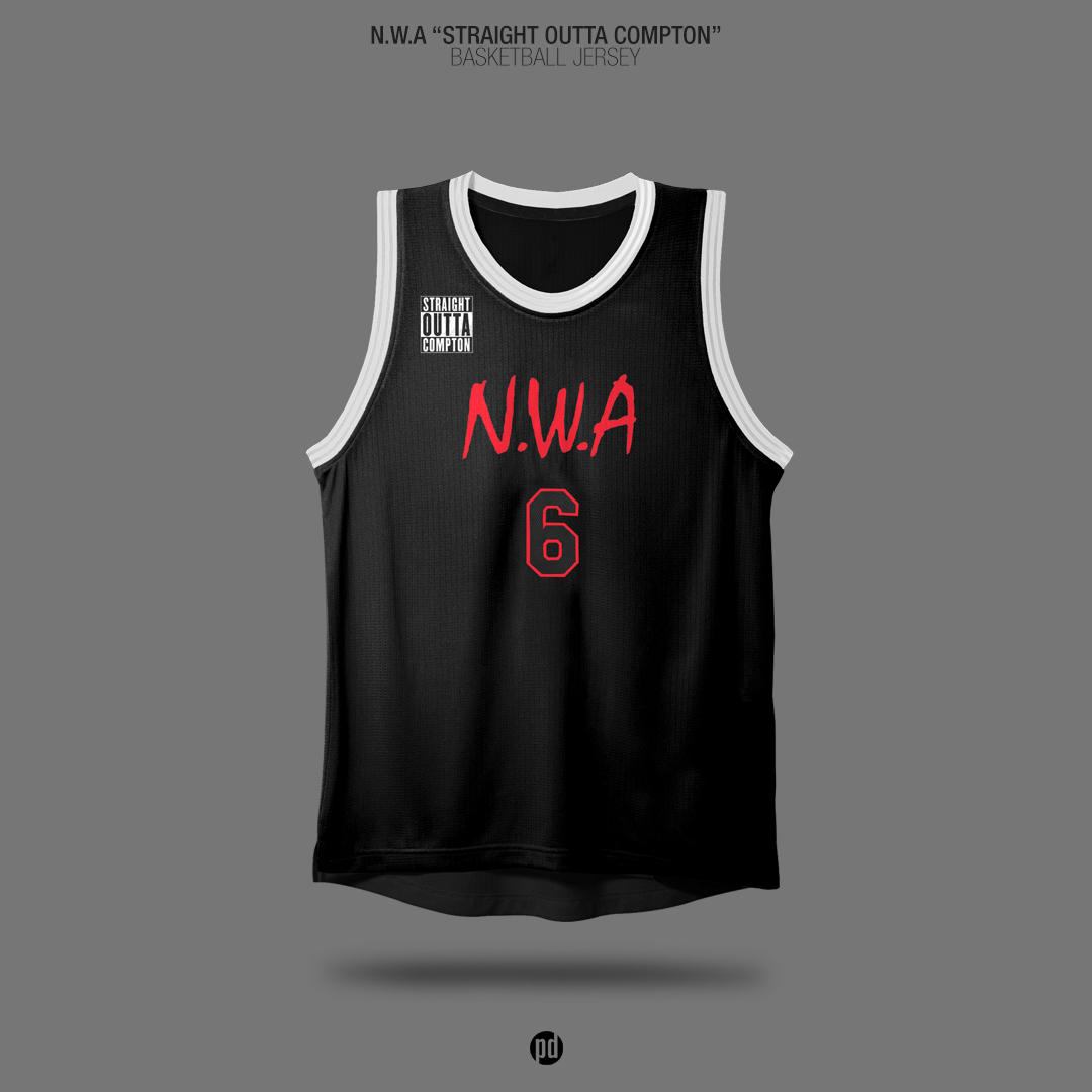 Old School Hip-Hop Albums x Basketball Jerseys