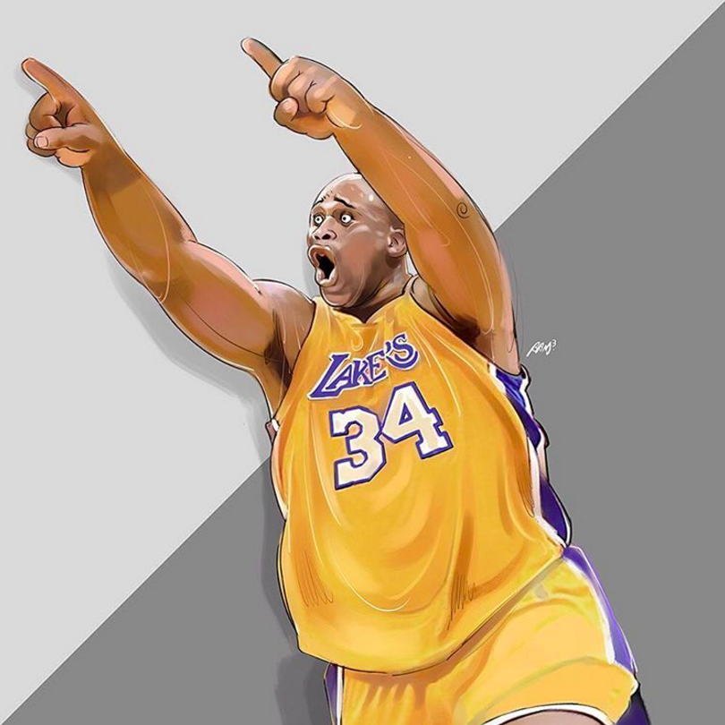 Bryant to Shaq Illustration