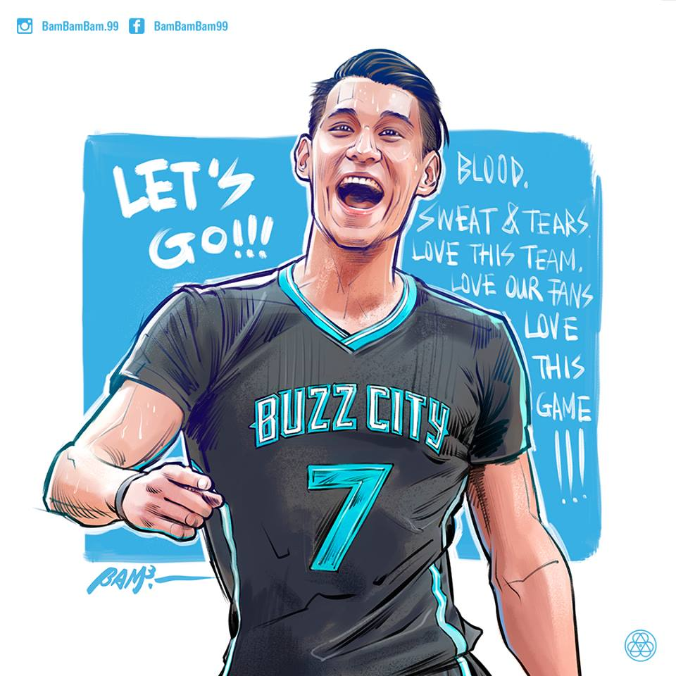 Jeremy Lin Blood, Sweat and Tears Illustration