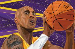 King Kobe Bryant Low Poly Art
