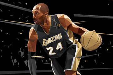 Kobe Bryant '24K Golden Black Mamba' Illustration