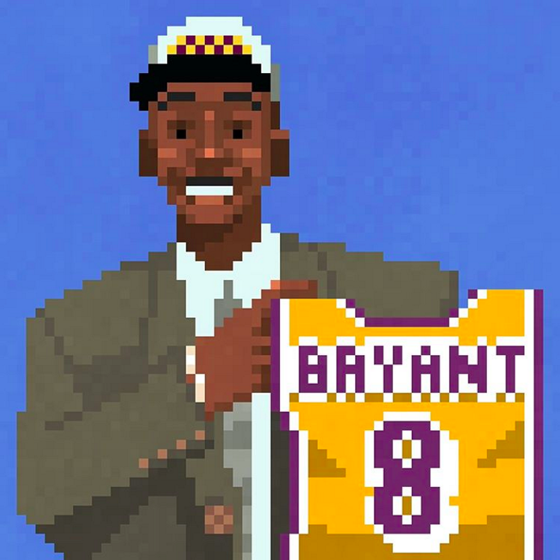 Kobe Bryant DOTS Illustration