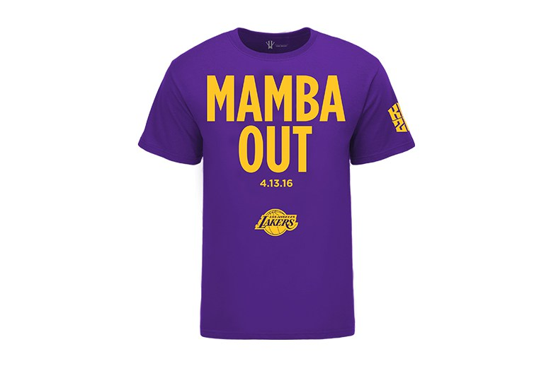 Kobe Bryant Is Selling 'Mamba Out' Tees