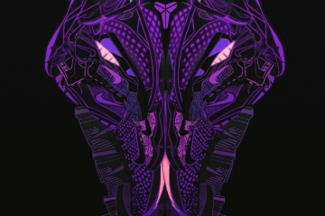 Kobe Bryant Spirit Animal Sneaker Illustration