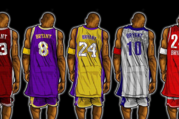 Kobe Bryant Through the Years Illustrated Series