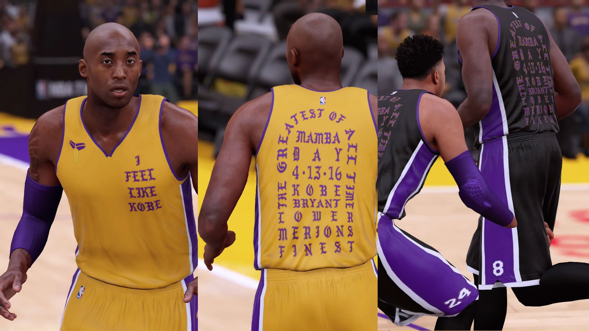 LA Lakers 'I Feel Like Kobe' Uniforms x NBA 2K16