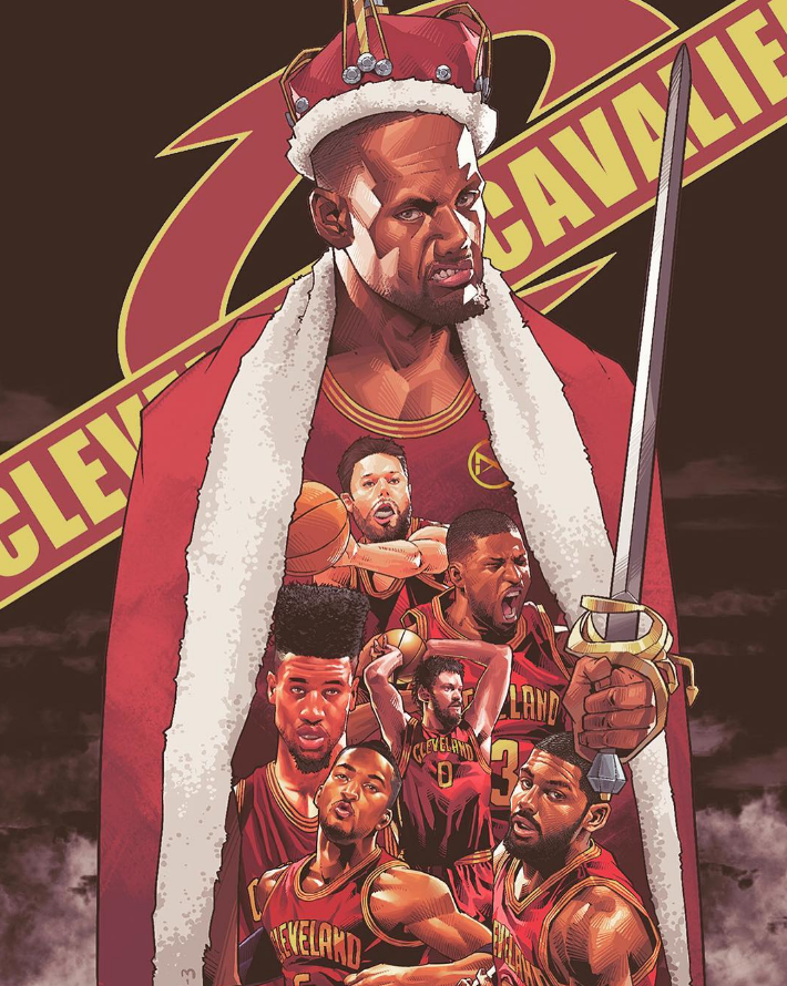LeBron James Out For Revenge Illustration